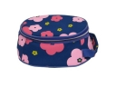 Printed Floral Pattern Oval Shape Lunch Cooler Bag With Handle (#75023)